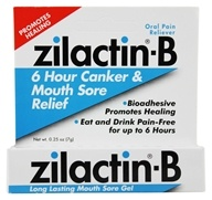 Zilactin-B 6 Hour Canker & Mouth Sore Relief Gel
