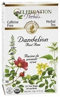 Organic Caffeine Free Dandelion Root Raw Herbal Tea