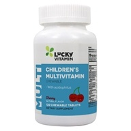 LuckyVitamin - Children's Chewable Multivitamin With Acidophilus Cherry Flavor - 120 Chewable Tablets