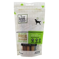 "I And Love And You - No Stink Free Ranger Bully Stix Dog Chews 6"" - 5 Pack"
