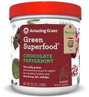 Amazing Grass - Green SuperFood Powder Holiday Blend 30 Servings Chocolate Peppermint - 8.5 oz.