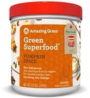 Amazing Grass - Green SuperFood Powder Holiday Blend 30 Servings Pumpkin Spice - 8.5 oz.