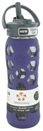 Lifefactory - Glass Beverage Bottle With Silicone Sleeve and Straw Cap Royal Purple - 22 oz.