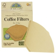 Coffee Filters #6 Size Cone Style Unbleached Totally Chlorine-Free (TCF)