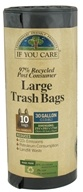 97% Post Consumer Recycled Large Trash Bags with Handles