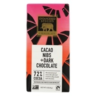 Dark Chocolate Bar with Cacao Nibs 72% Cocoa