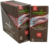 Milk Chocolate Bar with Cherries 48% Cocoa