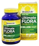 Renew Life - Ultimate Flora Adult 50+ Probiotic - 90 Vegetarian Capsules Formerly Senior Formula