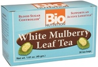 Bio Nutrition - White Mulberry Leaf Tea - 30 Tea Bags OVERSTOCKED