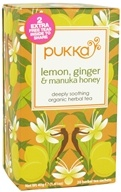 Pukka Herbs - Organic Herbal Tea Lemon, Ginger & Manuka Honey - 20 Tea Bags