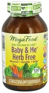 MegaFood - Baby & Me Herb Free Multivitamin - 120 Tablets