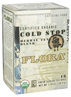 Certified Organic Herbal Tea Blend Cold Stop Caffeine Free