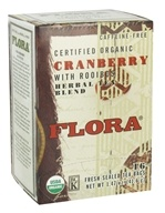 Certified Organic Herbal Tea Blend Cranberry with Rooibos Caffeine-Free