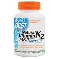 Doctor's Best - Natural Vitamin K2 MenaQ7 45 mcg. - 180 Vegetarian Capsules