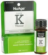 NuAge - Tissue K Throat Homeopathic Remedy - 125 Tablets
