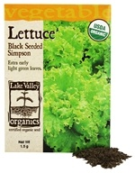 Organic Lettuce Black Seeded Simpson Seeds
