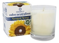 CleanAir Odor Neutralizer Candle Clear Glass Tumbler