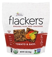 Doctor in the Kitchen - Flackers Flax Seed Crackers Sun Ripened Tomato & Basil - 5 oz.
