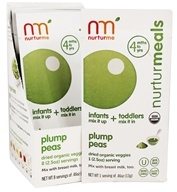 Nurturme - Organic Dried Veggies 4+ Months Plump Peas - 0.46 oz.