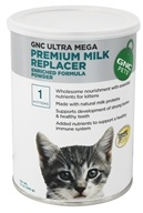 GNC Pets - Ultra Mega Premium Milk Replacer Enriched Formula Powder For Kittens - 12 oz.