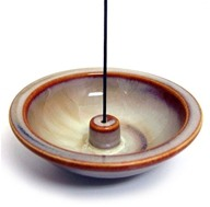 Handcrafted Incense Holder Wheel 4.5 Inch Round