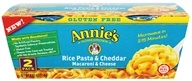 Annie's Homegrown - Gluten Free Macaroni & Cheese Rice Pasta & Cheddar - 2 Pack