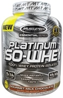 Muscletech Products - Platinum Essential Series 100% Iso-Whey Gourmet Milk Chocolate - 3.34 lbs.