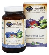 Garden of Life - Kind Organics Men's Once Daily Whole Food Multivitamin - 60 Vegetarian Tablets LUCKY PRICE