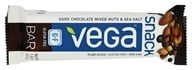 Vega - Snack Bar Dark Chocolate Mixed Nuts & Sea Salt - 1.48 oz.