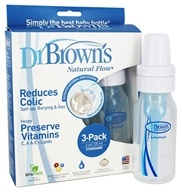 Dr. Brown's - Natural Flow Standard Baby Bottle 3 Pack - 4 oz.