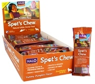 Halo Purely for Pets - Spot's Chew Natural Edible Dental Treat For Dogs Pumpkin - 1.02 oz.