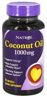 Natrol - Coconut Oil 1000 mg. - 45 Softgels