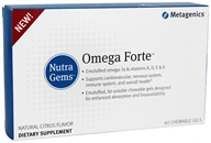 Metagenics - Nutra Gems OmegaForte - 60 Chewable Gels