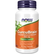 NOW Foods - CurcuBrain Cognitive Support 400 mg. - 50 Vegetarian Capsules