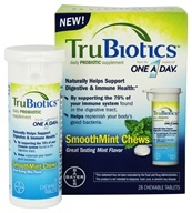 Bayer Healthcare - TruBiotics Probiotic One A Day Mint - 28 Chewable Tablets