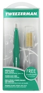Tweezerman - Slant Tweezer with Folding Lash Comb Emerald Green