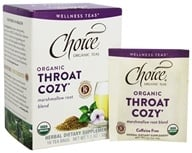 Choice Organic Teas - Wellness Teas Throat Cozy - 16 Tea Bags
