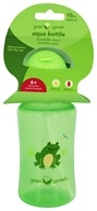 Green Sprouts Aqua Bottle with Flip Cap & Silicone Straw for 6 Months+