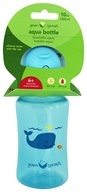 Aqua Bottle with Flip Cap & Silicone Straw for 6 Months+