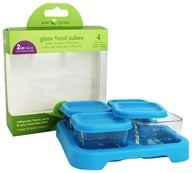 Glass Baby Food Cubes 2oz. Size + Tray
