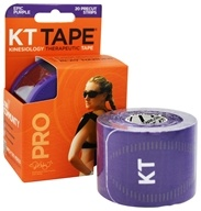 KT Tape - Pro Kinesiology Therapeutic Elastic Sports Tape Pre-Cut Strips Epic Purple - 20 Strip(s)