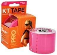 DROPPED: KT Tape - Pro Kinesiology Therapeutic Elastic Sports Tape Pre-Cut Strips Hero Pink - 20 Strip(s)