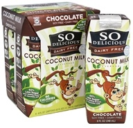 So Delicious - Dairy Free Coconut Milk Beverage Chocolate 4 x 8 oz. Cartons