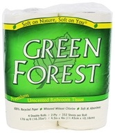 Green Forest - Premium Double-Roll Bathroom Tissue 100% Recycled 2-Ply 352 Sheets - 4 Roll(s)