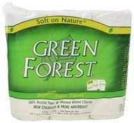Green Forest - Size Your Own Premium Paper Towels 100% Recycled Paper 2-Ply 104 Sheets - 3 Roll(s)