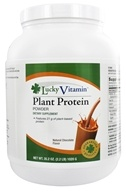 LuckyVitamin Plant Protein Powder Natural Chocolate Flavor ...