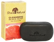 Cleansing Black Soap with Shea Butter