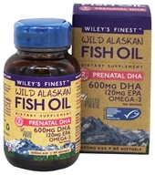 Wiley's Finest - Wild Alaskan Fish Oil Prenatal DHA 600 mg. - 60 Softgels
