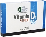 Ortho Molecular Products - Vitamin D3 Single Blister 50000 IU - 15 Capsules