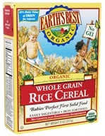 Earth's Best - Organic Whole Grain Rice Cereal - 8 oz.